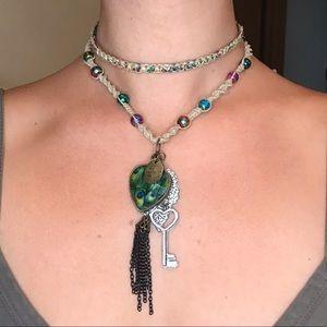 Jewelry - Hand Braided Hemp Necklace & Reversible Choker Set